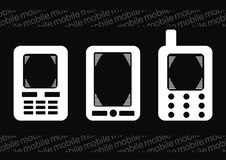 Free Set Simple Mobile Phone On Vector Stock Photos - 10170883