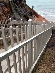 Free Staircase And Railing To The Beach Stock Photo - 10171280