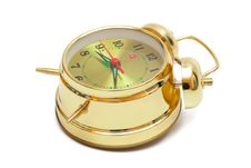 Free Gold Alarm Clock Stock Photography - 10171352