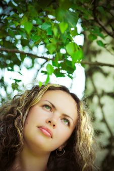 Free Pretty Woman With Long Curly Hair 2 Royalty Free Stock Photos - 10171388