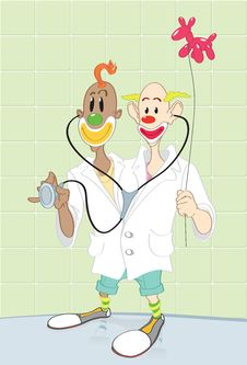 Free Doctor Happy Clowns. Royalty Free Stock Images - 10172669