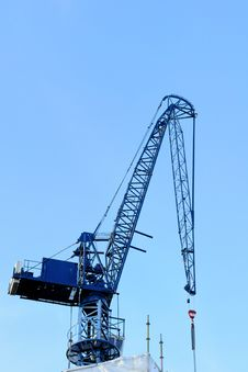 Blue Construction Crane Stock Image
