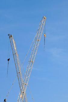 White Construction Crane Royalty Free Stock Photo