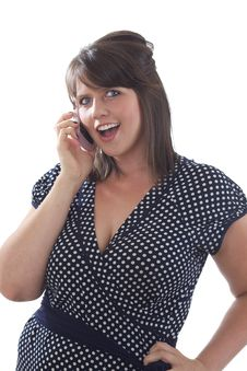 Free Business Woman Talking On Cell Phone Stock Photography - 10173022