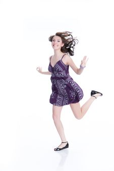 Free Young Woman Jumping Stock Photo - 10173110