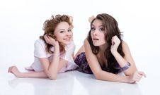 Free Young Emotional Women Stock Photography - 10173262