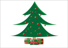 Free Decorative Christmas Tree With Gifts Royalty Free Stock Photography - 10175437