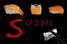 Sushi Collage Royalty Free Stock Image