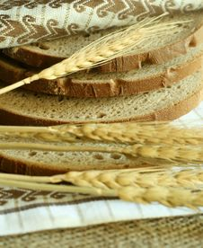 Wheat Ears And Bread
