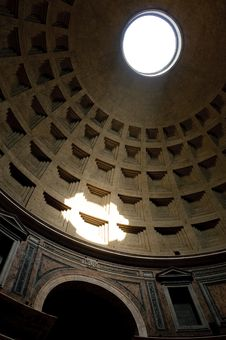The Dome Of The Pantheon Stock Photography