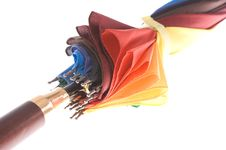 Free Rainbow Colored Umbrella Royalty Free Stock Photo - 10177795