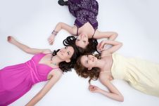 Free Three Young Women Stock Photography - 10177822
