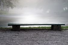 Free A Bench Aside The River Stock Photo - 10178680