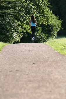 Free Running Woman Stock Photo - 10179450