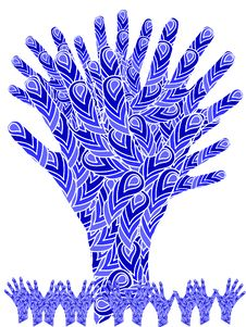 Free Tree From Abstract Hands Stock Image - 10179701