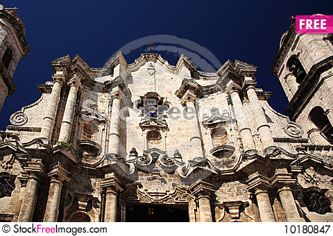 Free Havana Cathedral Royalty Free Stock Photography - 10180847