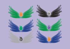 Free Colorful Abstract Angels Royalty Free Stock Photography - 10180557