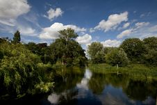 Free Grantchester Mill Pond Royalty Free Stock Photography - 10182347