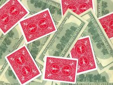 Banknotes And Cards Stock Image