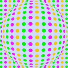 Bright Polka Dot Sphere Paper Stock Photos