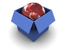 Free Earth In The Box Stock Photography - 10184052