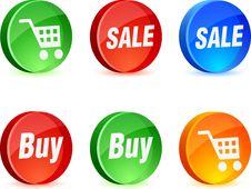 Shopping Icons. Stock Image