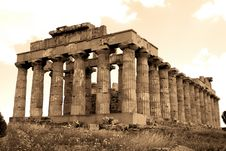 Free Old Italy, Greek Temple Stock Photos - 10185063
