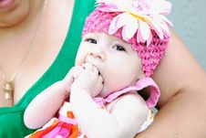 Free Adorable Baby Making Funny Face Stock Photo - 10185160