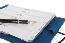 Free Address Book And Fountain Pen Royalty Free Stock Photos - 10185478
