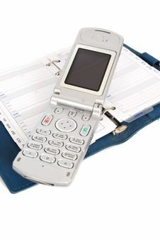 Free A Cell Phone And  Address Book Royalty Free Stock Image - 10185496
