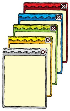 Windows Hand Drawing Color Stock Image