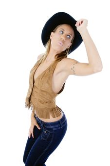 Free Cow Girl Royalty Free Stock Photography - 10186207