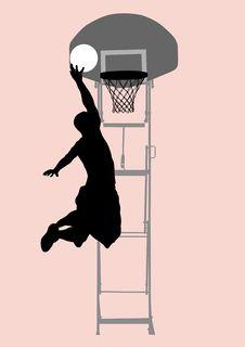 Free Basketball Man Royalty Free Stock Photography - 10186837