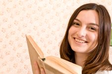Free Smiling Student With A Book Royalty Free Stock Image - 10187266