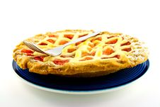 Free Apple And Strawberry Pie With A Fork Royalty Free Stock Photos - 10188878