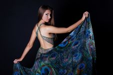 Free Young Woman In Beautiful Long Dress Royalty Free Stock Photography - 10189057