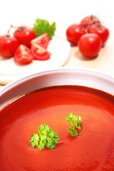 Free Tomatoes And Parsley Royalty Free Stock Photography - 10189257