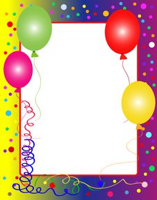 Free Party Background With Balloons Royalty Free Stock Photo - 10189835