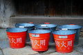 Free Red Japanese Buckets Stock Photo - 10191850