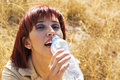 Free Thirsty Woman Royalty Free Stock Photo - 10196555