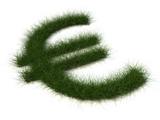 Free Euro Sign Of Grass Stock Images - 10190244