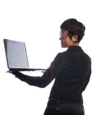 Free Woman With Laptop Stock Images - 10190674