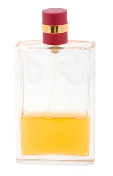 Free Yellow Perfume Bottle Isolated On White Royalty Free Stock Photos - 10192038