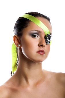 Woman With Jewel On Her Eye Royalty Free Stock Photography