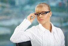 Free Business Lady In Glasses Royalty Free Stock Photos - 10193128