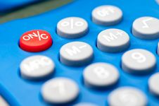 Macro Of Buttons On A Calculator Royalty Free Stock Photos