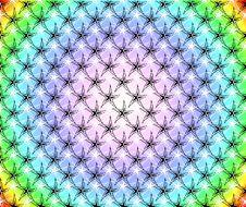 Free Rainbow Stars Pattern Vector Stock Photography - 10193902