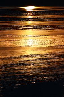 Free Golden Alaskan Sunrise On Water Stock Photos - 10194323