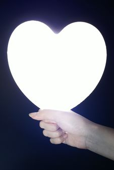 Free Bright Heart In Female Hand Royalty Free Stock Image - 10194506