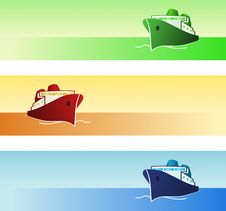 Free Maritime Banners Royalty Free Stock Photo - 10194565